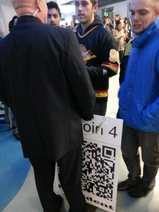 Scotiabank and Rogers Arena Take Canuck Fan's Bitcoin Sign